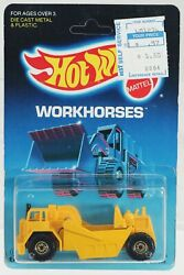 Hot Wheels Earth Mover Workhorses Series 3715 New Nrfp 1986 Yellow Ctgd 164