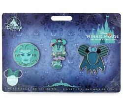 Disney Minnie Mouse The Main Attraction Haunted Mansion Pins Badges Set 10/12