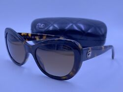 CHANEL Sunglasses CH5321 C.1172 S9 TORTOISE BROWN POLARIZED ITALY AUTHENTIC $125.00