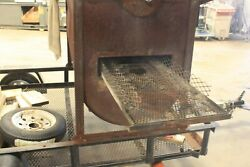 Pig Roaster Charcoal Fired With 120v Dc Variable Speed Motor Drive On Spit.