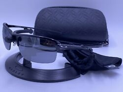 Rare OAKLEY Sunglasses OO4071 01 WIRETAP Polished Black Black Iridium AUTHENTIC $125.00