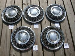 Wire Wheel Hubcaps Rotunda 60-65 Ford Mercury 13 Pt C4oz-1130-t Vintage 5 Set