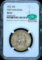 1925 U.s. 50andcent - Fort Vancouver Half Dollar - Ngc And Cac Ms67