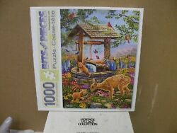 Bits And Pieces 1000 Piece Puzzle '' Wishing Well '' Complete