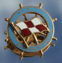 Canadian Pacific Line Ss Empress Of Britain Fine Enamel Badge Purchased Onboard