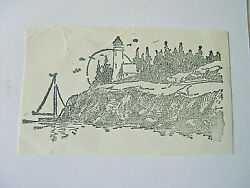 Lighthouse Sailboat By The Coast Unmounted Rubber Stamp Seascape