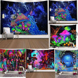 Psychedelic Trippy Mushroom Tapestry Background Cloth Hippie Wall Hanging Decors