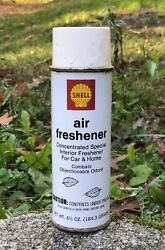 Vintage Shell Gas Oil Air Freshner Tube Can Man Cave Display