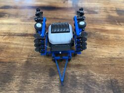 1/64 Custom Blue Anhydrous Applicator W/ Lines With White Montag Tank Farm Toy