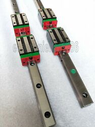 2 Sets Hgr20/25/30--3700mm Jointed Linear Rail And 4 Pcs Hghca Block Bearing