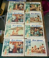 Rare Elvis Presley Original Set Of 8 Lobby Cardsblue Hawaiinot Reproductions