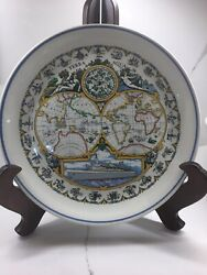 Holland America Line Ceramic Plate With Flagship By Royal Goedewaagen Gouda.