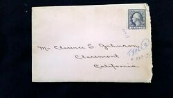 Scott 529 1918 Geo Washington 3 Cent Stamp And Letter To Wwi Soldier Returning