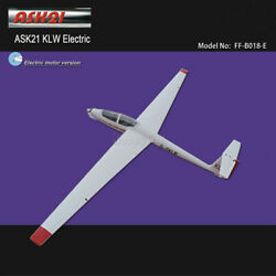 Ask-21 Klw Electric Glider 2600mm Arf With Motor Prop Rc Fiberglass Airplane