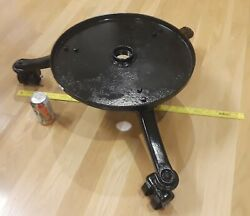Vintage Cast Iron Tripod Table Base With Rol-ezy Chief Casters