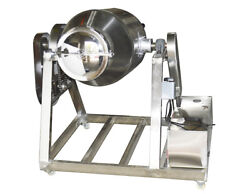 304 Stainless 110v 100l Metal Metallurgy Dry Powder Mixer 12-13rpm With Wheels