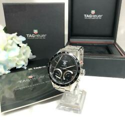 Tag Heuer Carrera Cv2a1s Chronograph Automatic Men's Watch 6.49-6.69inch Ex++