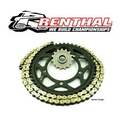 Kawasaki Zx6r 636 05-06 Renthal 520 Rr4 Race Gold X-ring Chain And Jt Sprocket Kit