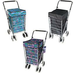 6 Wheels Foldable Shopping Trolley Cart Grocery Folding Market Laundry Bag Spare
