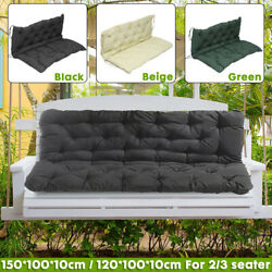 Us 2/3 Seat Bench Replacement Swing Cushion Garden Chair Backrest Furniture