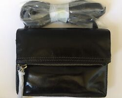 NWT Hobo International Glade Black Vintage Leather Crossbody Bag Purse Handbag $59.95