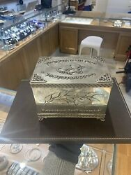 Vintage Sterling Silver Hand Engraved Tefillin Box