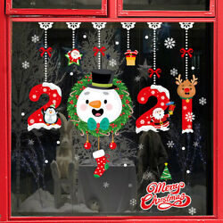 Christmas Window Stickers Wall Sticker Household DIY Home Decor Decals Removable