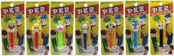 Pez Strap Holder Set Of 7 - Series A From 2004 - Rare From Japan - Non Us - Moc