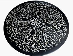 36 Inches Marble Kitchen Table Stone Patio Coffee Table Top Inlay Work