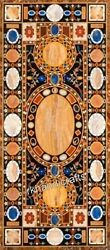 Marble Dinning Table Top With Intricate Work Hallway Table Mosiac Art For Home