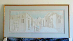 Framed Fiji Graphics Hand-cast Paper Art 3d Signed Wess Adobe Trail With Tags