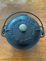 Griswold No. 0 Toy Fully Marked Cast Iron Dutch Oven