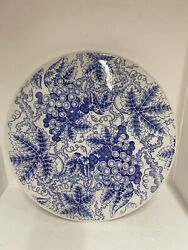 """Spode Blue Room Collection Grapes"""" 11 1/2 Cake Plate - Excellent"""