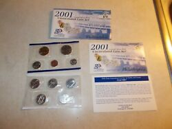 2001 Us Mint Uncirculated Coin Set W/ State Quarters And Sac Dollar Phil Mint