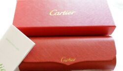 CARTIER Eyeglasses Hard Case BOX CASE Red Leather FRANCE Magnetic Closure. New