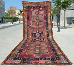 56″ X 164″ Hand Knotted Area Rug Turkish Tribal Large Runner Rug Pink 4′8″x13′8″
