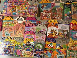 Vintage Mcdonalds Happy Meal Boxes Lot Of 200+ W/ Toys And Fry Box 1980-2000's