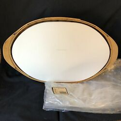 Longaberger Oval Serving Basket Divided Protector Tray Cover, 2007