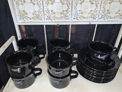 Mikasa Galleria Opus Black Cups And Saucers Fk701 9