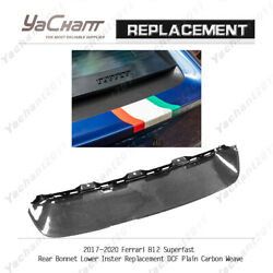 Dry Carbon Rear Bonnet Lower Inster Replacement For 17-20 Ferrari 812 Superfast