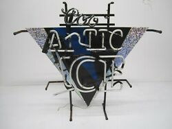 Vtg 1990s Coors Artic Ice Arctic Beer Advertising Neon Sign Lighted As Is Parts