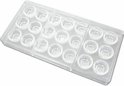 Fat Daddios 21 Piece Unisex Clear Plastic Rose Candy Molds Pcm1058
