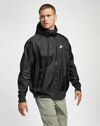 NIKE SPORTSWEAR WINDRUNNER WINDBREAKER JACKET BLACK AR2191 010 MEN#x27;S LARGE