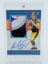 2018 National Treausres Mason Rudolph Fotl Rookie Patch Auto /15 Rap Rc
