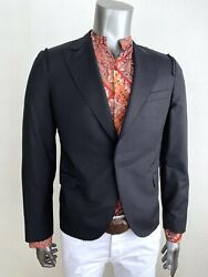 2500 Very Rare Lanvin By Lucas Ossendrijver Jacket One Button Sz.it 54- Us 44