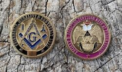 Masonic Scottish Rite 33rd Degree Limited Edition Challenge Coin - Ind. Numbered