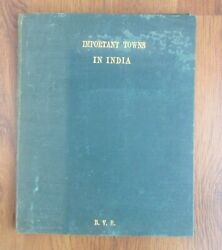 Important Towns In India - 1941 - Map Of India Book - Includes 1958 Railway Map