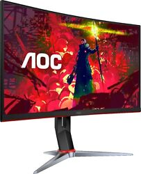 Aoc C27g2 27 Curved Gaming Monitor Fhd 1500r Curved Va1ms 165hz Renewed