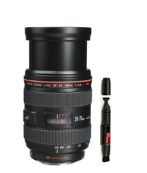 Canon Ef 24-70mm F/2.8 L Usm Ultrasonic Lens + Uv Filter And Cleaning Pen + Bag