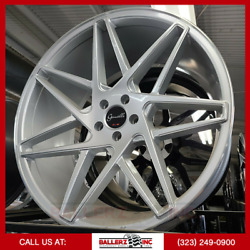 22x10.5 Gianelle 5x112 Wheel And Tire Package Silver Machine